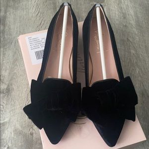 Bisue Ballerinas Velvet Bow